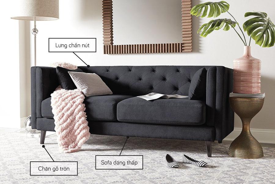 Mẫu sofa tiêu biểu cho phong cách Mid Century