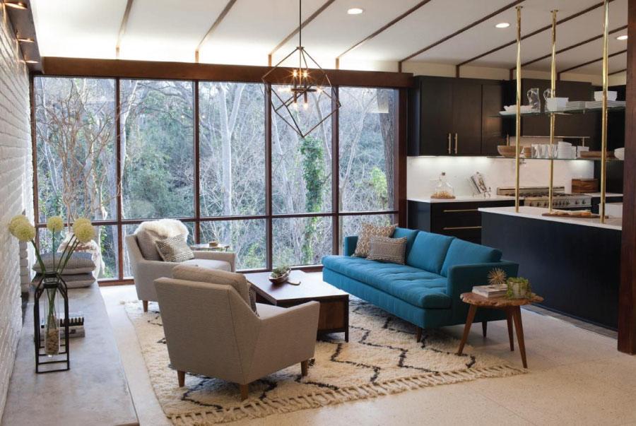 Không gian theo phong cách nội thất Mid Century